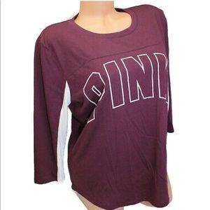 New Victoria's Secret 3/4 sleeve tshirt L NWT